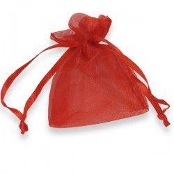 Saquinhos de Organza 9cm - Vermelho - 12 unidades
