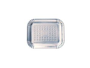 Bandeja Metalizada Prata Nº 01 (14X18Cm)
