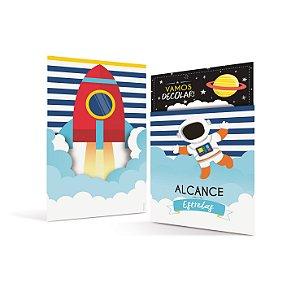 Convite  com envelope - Astronauta - 08 unidades