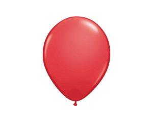 Balão Redondo Látex N° 8 - Vermelho - 50 Unidades
