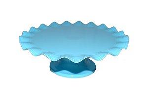 Boleira Plástico - Azul Claro Ondulada -  21cm