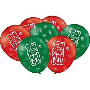 Balão Especial 9 Polegadas - Jovens Titãs - 25 unidades