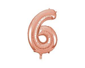 Balão Metalizados Rose Gold 40cm - Nº 6