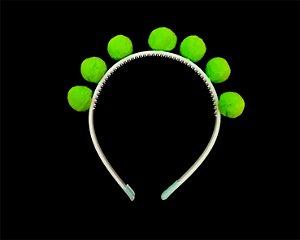 Tiara de Pomponzinhos - Verde