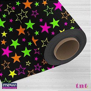 Tnt Estampado - Estrelas Neon - 5 metros