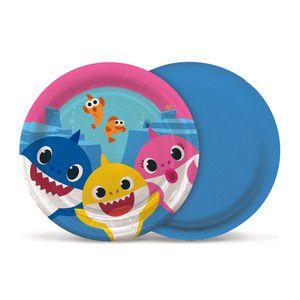 Prato de Papel - Baby Shark 18cm - 8 unidades