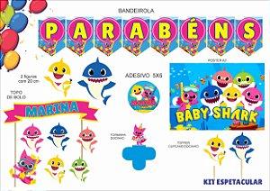 Kit Festa espetacular - Baby Shark - 7 itens