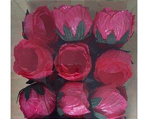 Forminha para Doces Flor- Charlote - Rosa Escuro - 24 Unidades
