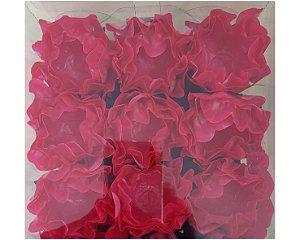 Forminha para Doces Flor- Valentina- Rosa Escura - 24 Unidades