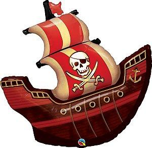 Balão Metalizado Shape - Navio Pirata - 40 Polegadas