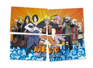 Painel 4 Folhas - Naruto