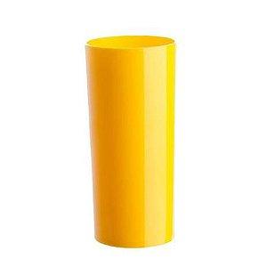 Copo Acrílico Long Dring - 300 Ml - Amarelo