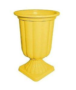 Vaso Grego de Plástico - Amarelo Sólido