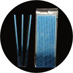Canudo De Papel -  Azul Tiffany Metazalido - 12 Unidades