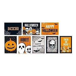 Cartaz Decorativo Cartonado- Halloween - 08 unidades