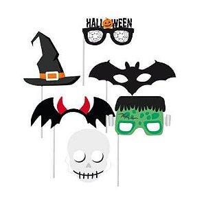 Plaquinhas para Foto Halloween - 08 unidades - Cromus
