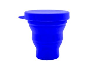 Copo Retrátil de Silicone - Azul