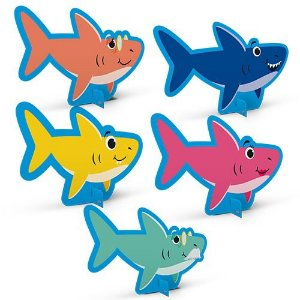 Decoração de Mesa Cartonada - Family  Shark - 5 Unidades