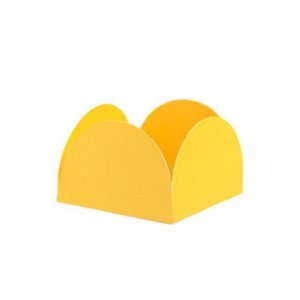 Porta Forminha 4 Pétalas Live Colors - Amarelo - 40 Unidades