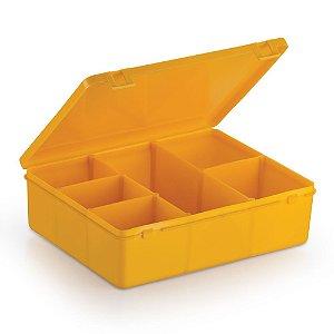 Caixa Organizadora para Guloseimas - 6 divisórias - Amarela