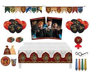 Kit Decoração Festa Completa P/ 08 Crianças - Harry Potter
