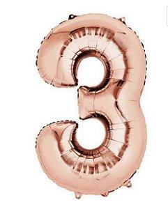 Balão Metalizados Rose Gold 70cm - Nº3