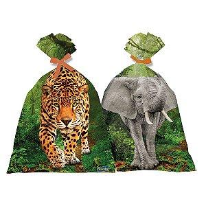 Sacola Plástica - Mundo Animal - 16 unidades
