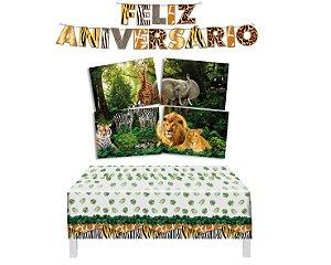 Kit Decoração de Festa 2 - Mundo Animal- Safari
