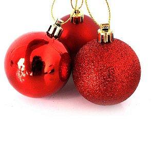 Bola de Natal N°6 - Sortido - Vermelho