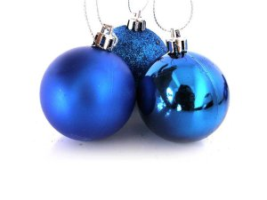 Bola de Natal N°6 - Sortido - Azul