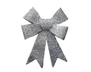 Enfeite Decorativo - Laço Natalino - Prata