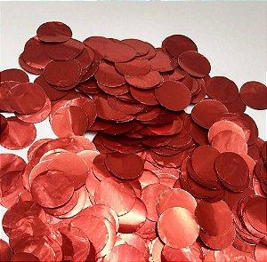 Confete Metalizado - Vermelho - 2cm