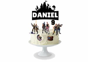 Topo de bolo personalizado - Batter Royale