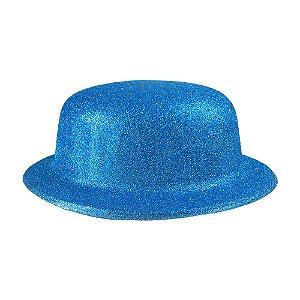 Chapéu - Coquinho de Plástico com Glitter - Azul