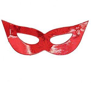 Máscara de Carnaval - Papel - Vermelha - 10 Unidades