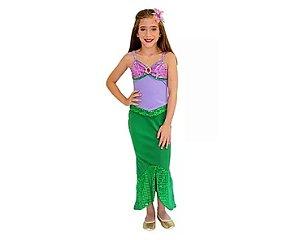 Fantasia Infantil - Sereia - 8 anos