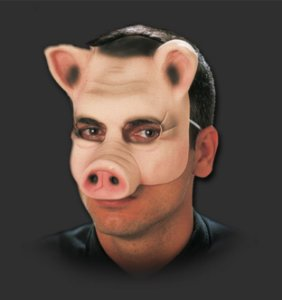 Máscara Látex Carnaval - Porquinho Metade