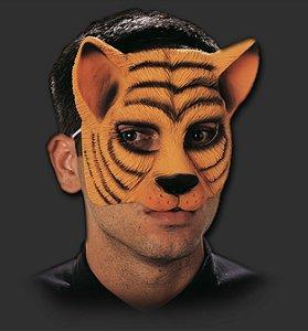 Máscara Látex Carnaval - Tigre Metade