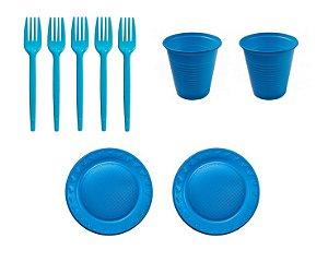 Kit Descartável - Azul Claro - 150 Itens
