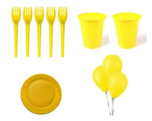 Kit Descartável - Amarelo - 200 Itens