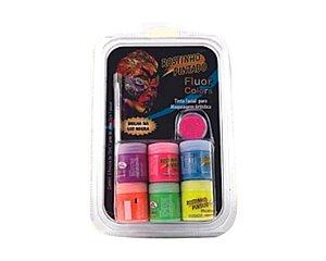 Tinta Facial - Kit 6 Cores Fluor