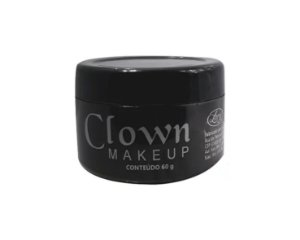 Clown Makeup - Branco - Tinta Cremosa - 60g