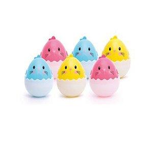 Páscoa - Ovinhos de Plástico - 6 Unidades