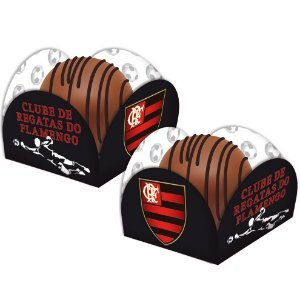 Porta Forminha para Doces Festa Flamengo - 40 unidades