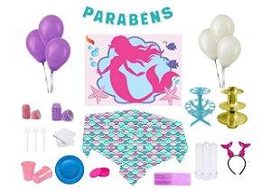 Kit decoração de festas especial - Sereia