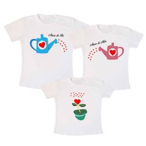 Kit Camisetas Família