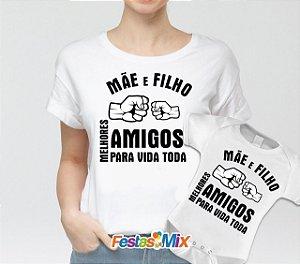Kit Dia das Mães - Camisa + Body - Mãe e FIlho