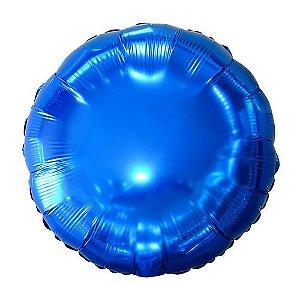 Balão Metalizado Redondo Azul - 45 cm