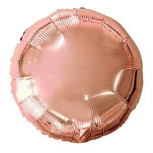 Balão Metalizado Redondo Rose Gold- 45 cm