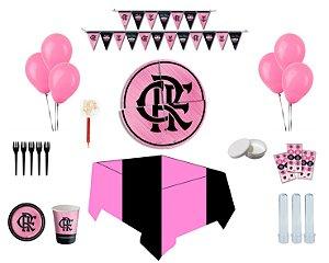 Kit Decoração de Festa Espetacular - Flamengo Rosa